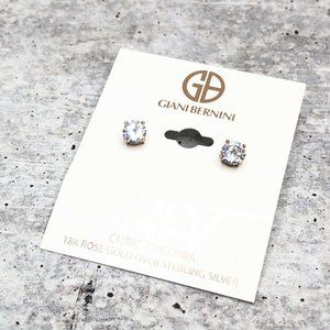 Giani Bernini CZ Stud Earring 18k Rose Gold Post